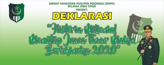 """SEMMI Jatim Deklarasi """"Histeria Millenial Menatap Jawa"""